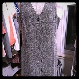 Sleeveless winter dress.